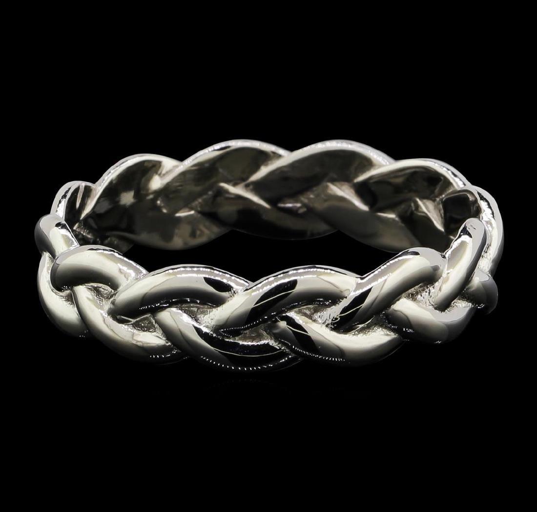 Platinum Braided Shank Band Ring