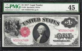1917 $1 Legal Tender Note Fr.39 PMG Choice Extremely