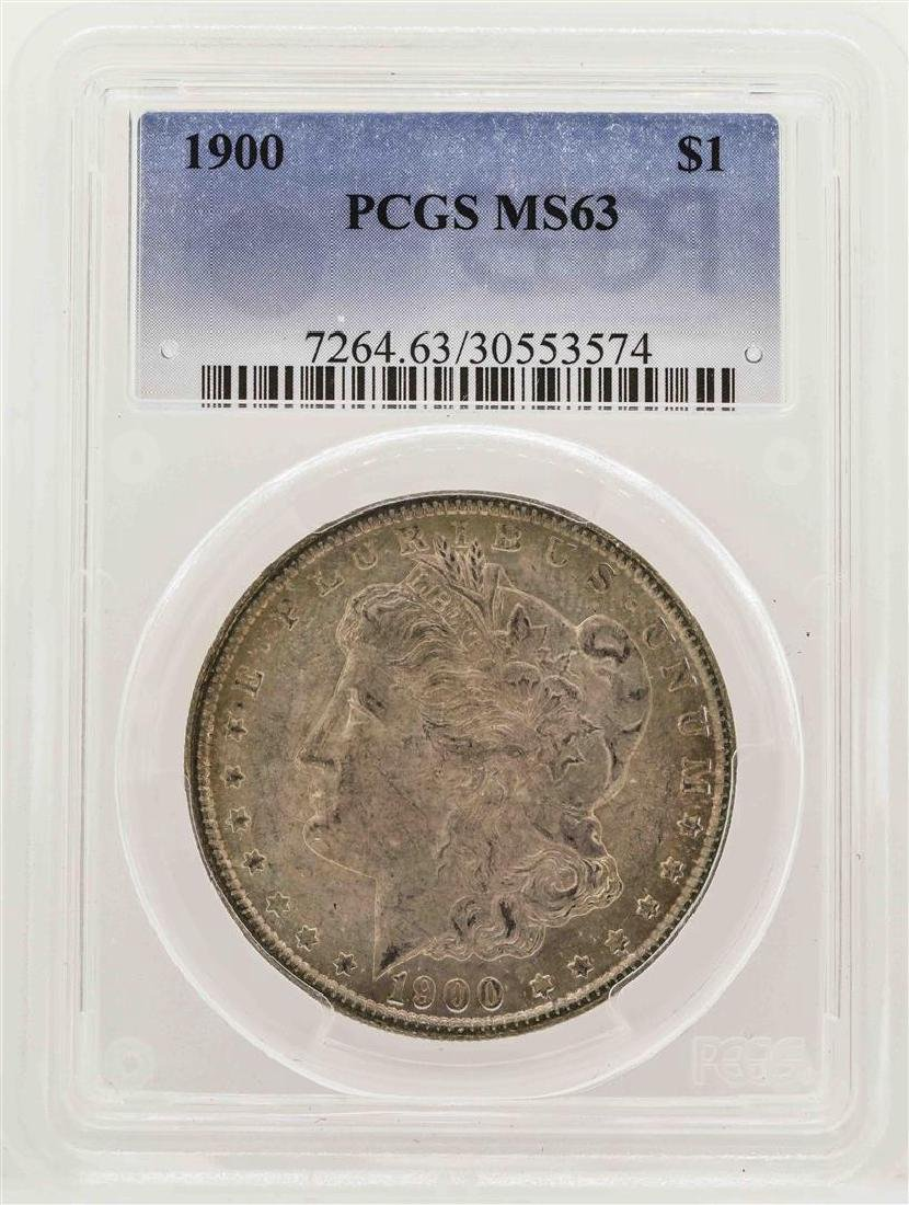 1900 $1 Morgan Silver Dollar Coin PCGS MS63