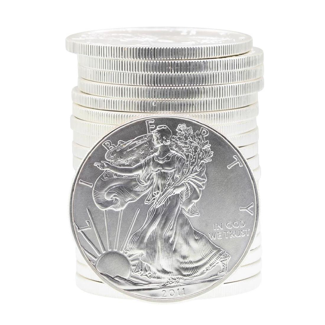 Roll of (20) 2011 $1 American Silver Eagle Brilliant