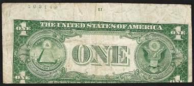 1935E 1 Silver Certificate Note ERROR Mislaigned