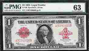 1923 $1 Legal Tender Note Fr.40 PMG Choice Uncirculated