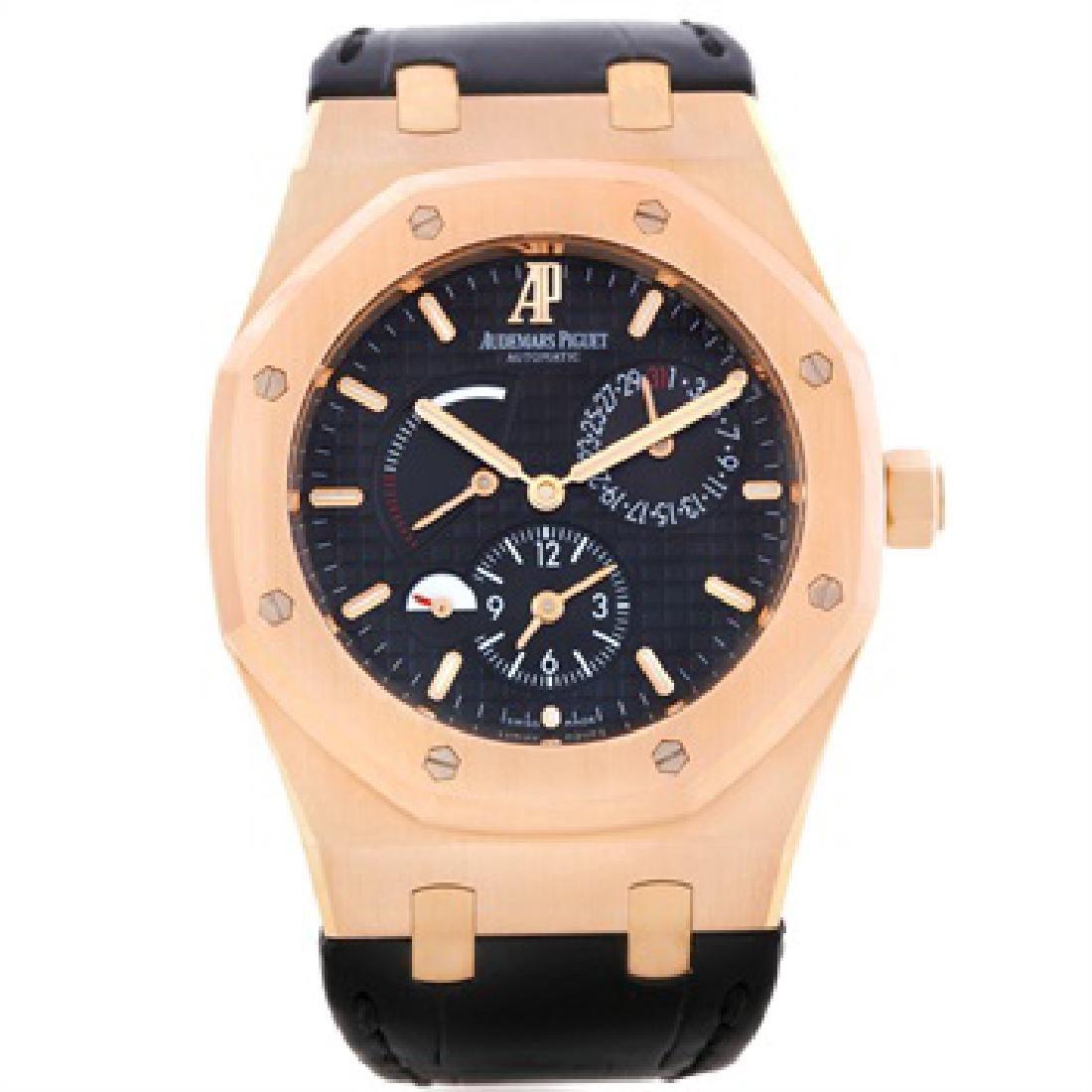 Audemars Piguet Royal Oak Dual Time 18K Rose Gold Watch