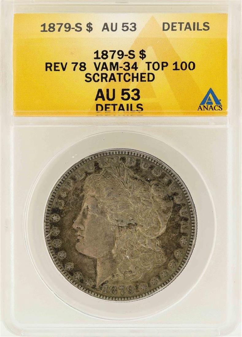 1879-S $1 Morgan Silver Dollar Reverse 78 VAM-34 Top