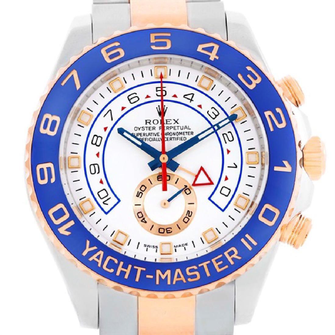 Rolex Yachtmaster II Steel 18k Rose Gold Mens Watch