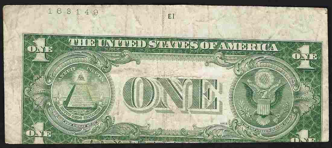 1935E $1 Silver Certificate Note ERROR Mislaigned