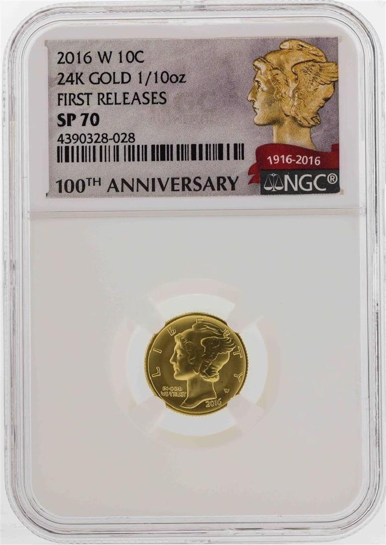 2016-W Mercury Dime Gold Centennial Commemorative Coin