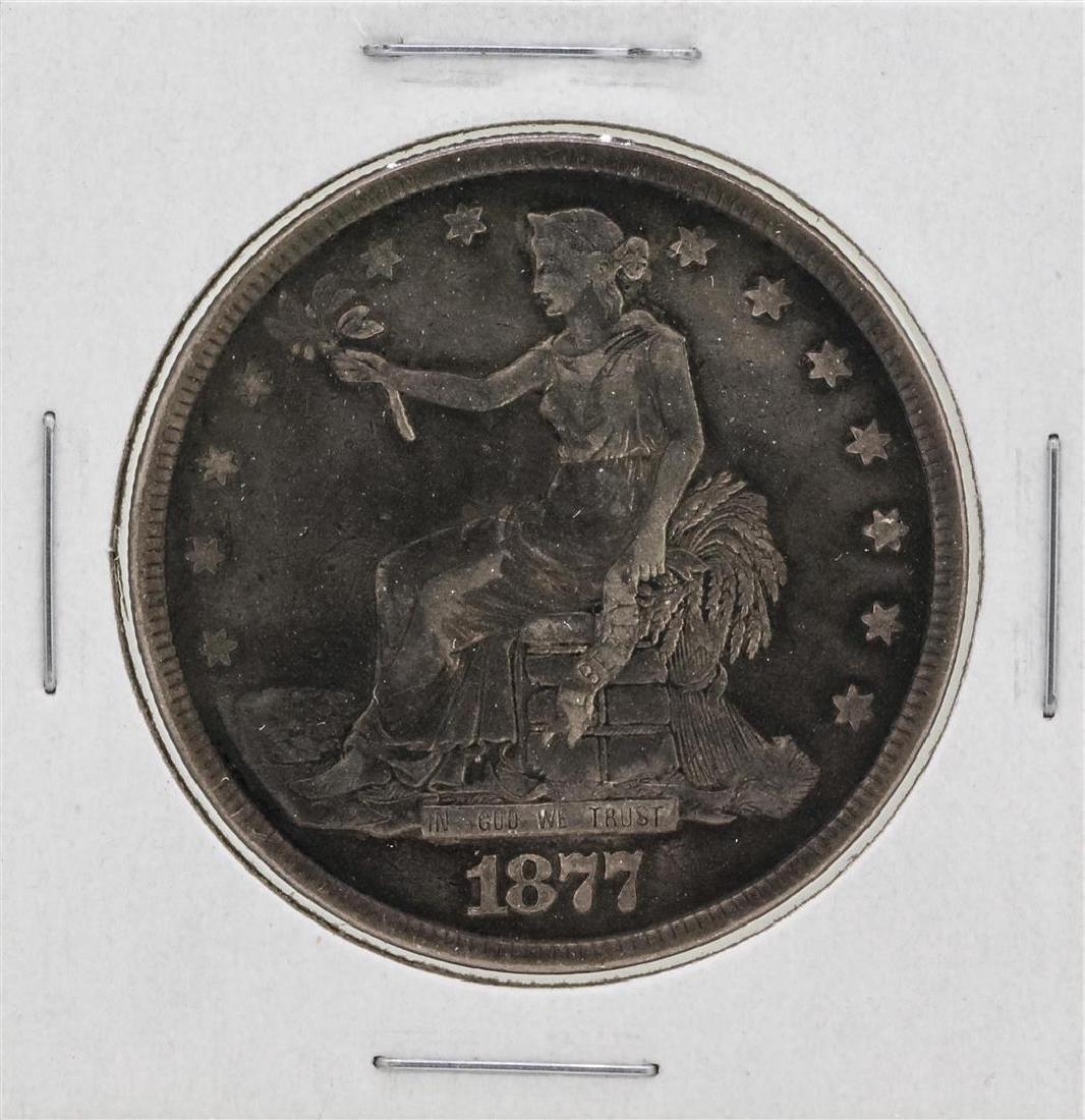 1877 $1 Silver Trade Dollar Coin