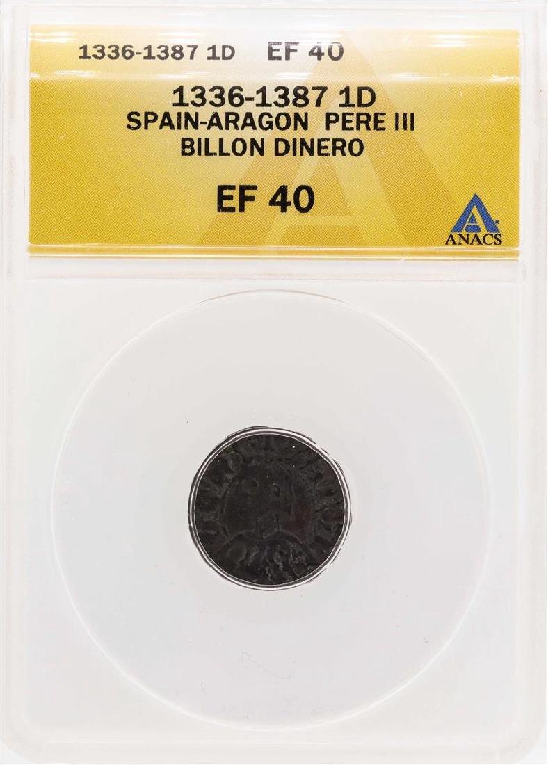 1336-1387 Spain-Aragon Pere III Billion Dinero Coin