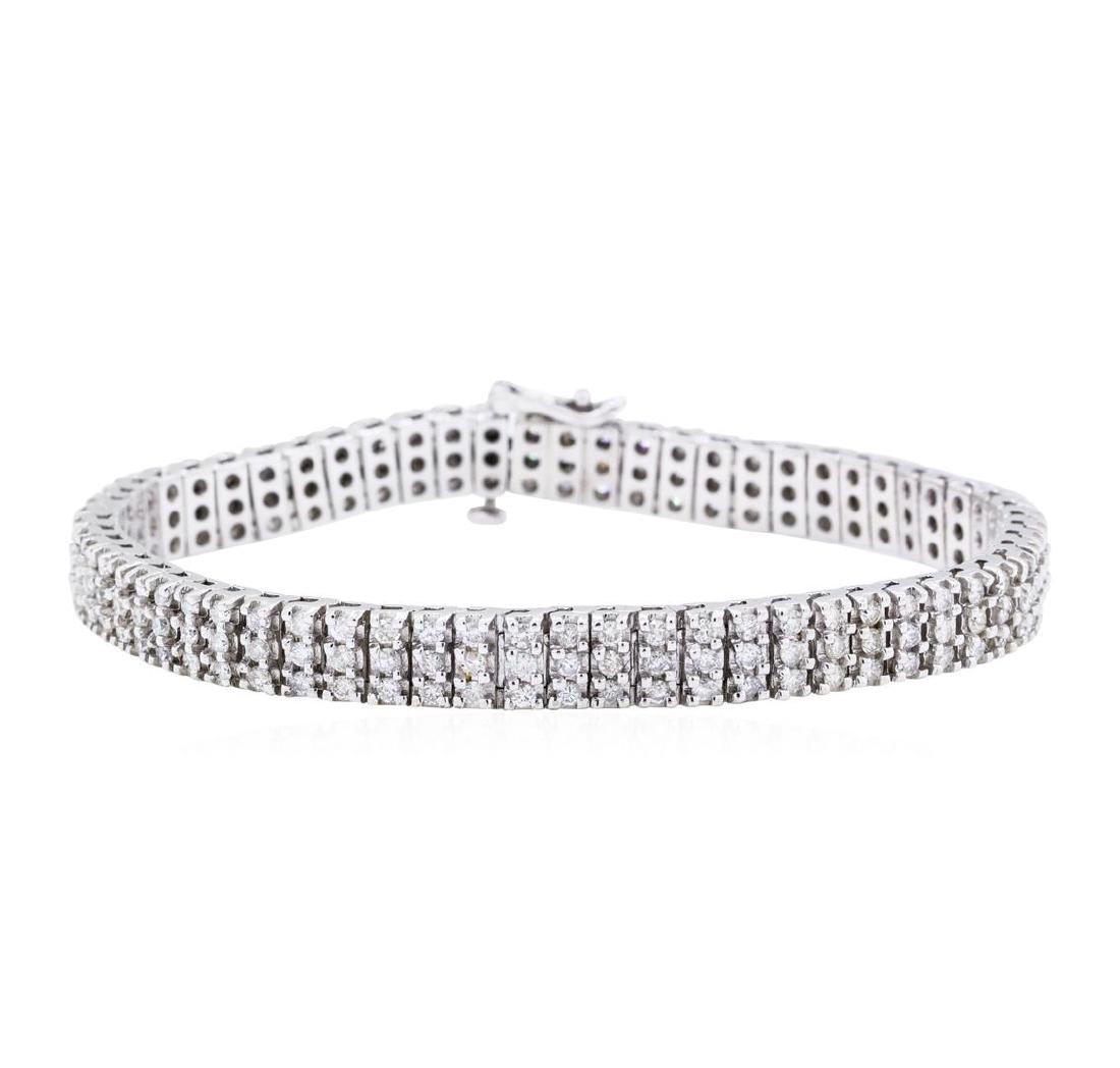 14KT White Gold 4.00 ctw Diamond Tennis Bracelet