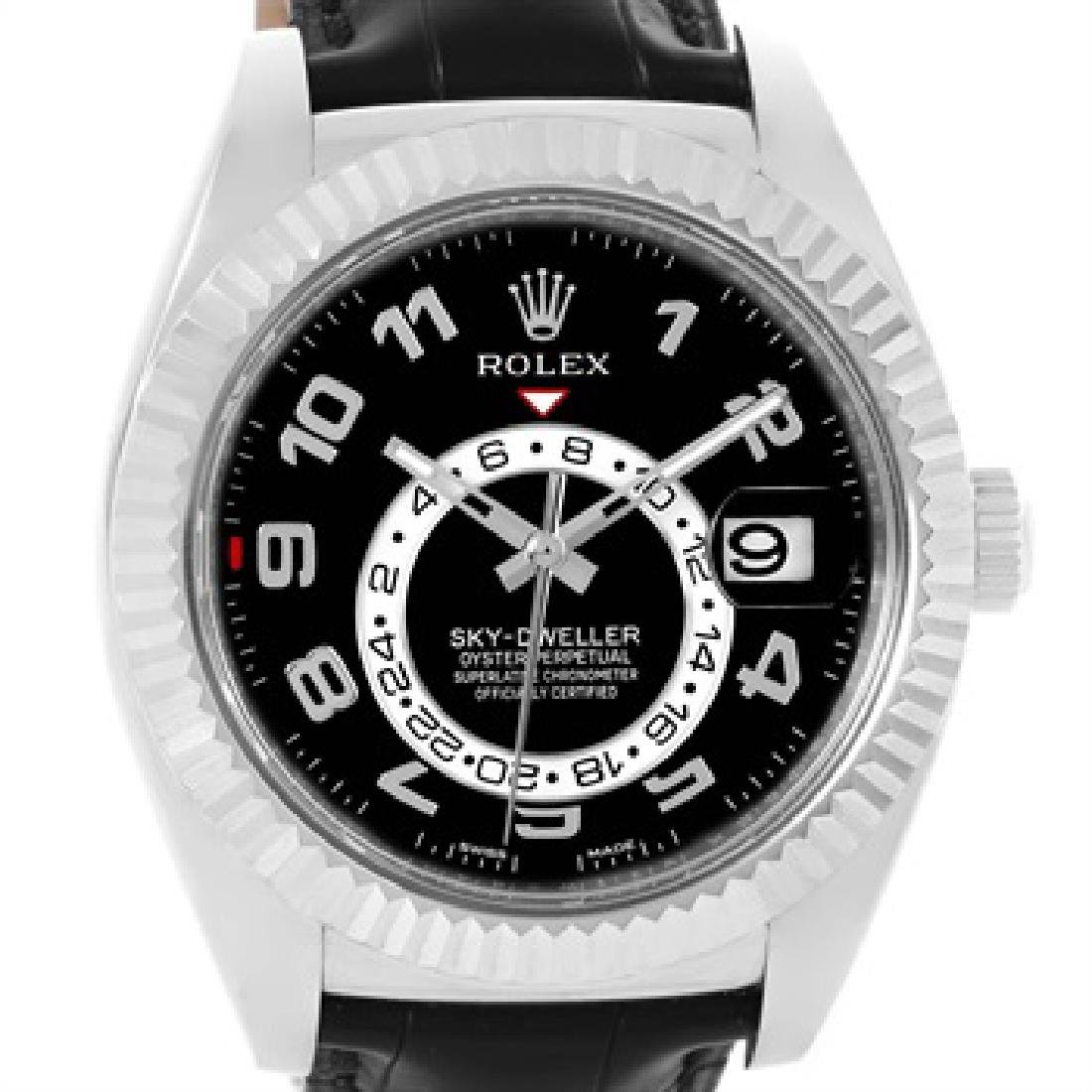 Rolex Sky-Dweller 18K White Gold Black Dial Watch