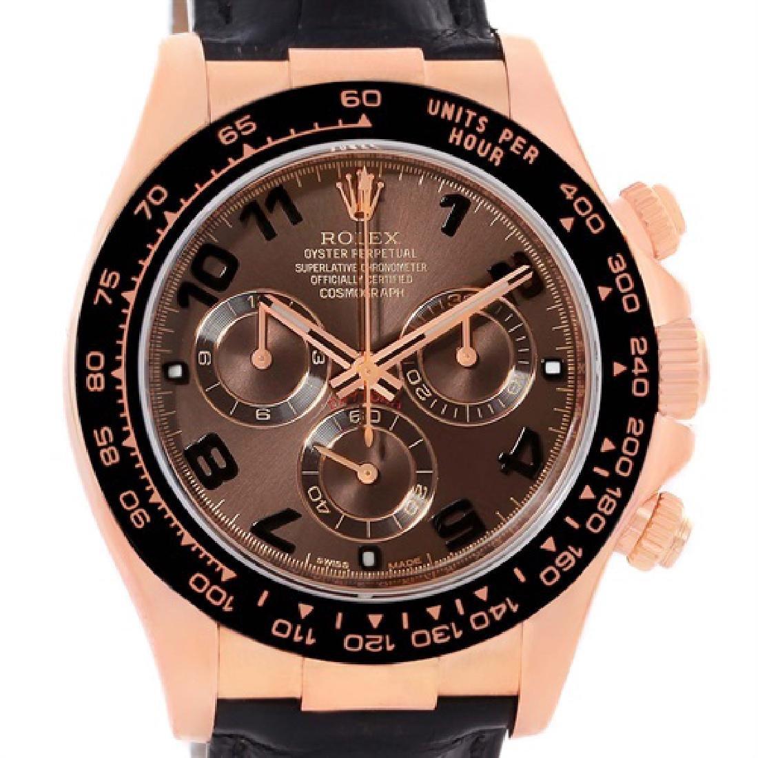 Rolex Cosmograph Daytona 18K Rose Gold Everose Watch