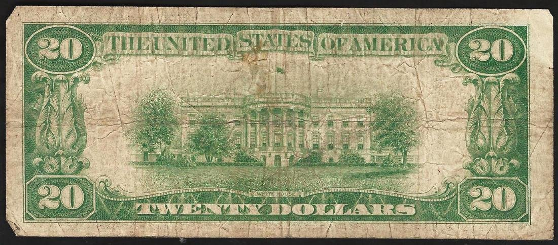 1929 $20 San Francisco CA National Currency Note CH# - 2