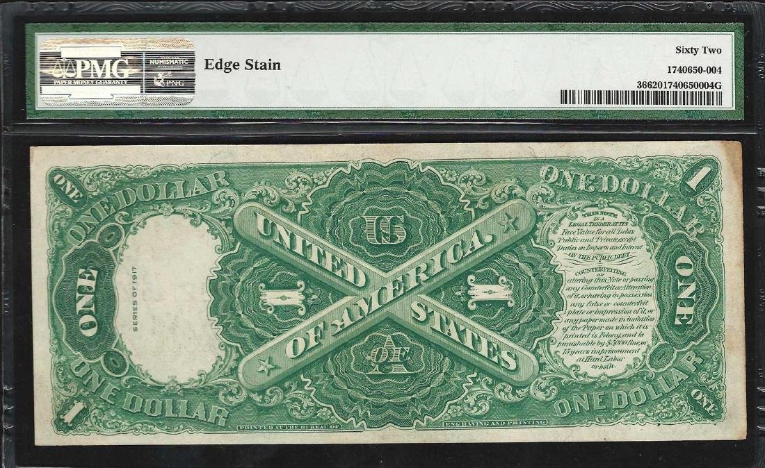 1917 $1 Legal Tender Note Fr.36 PMG Uncirculated 62 - 2
