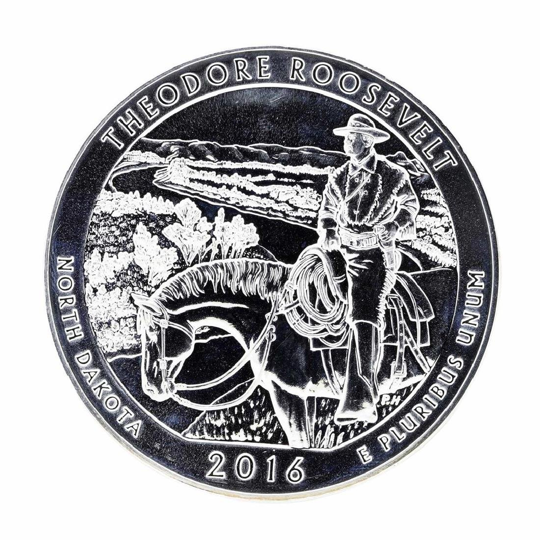 2016 5oz Silver ATB Theodore Roosevelt North Dakota