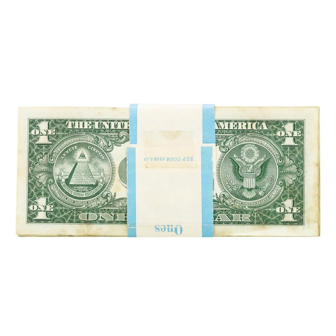 Pack of (100) Consecutive 1957 $1 Silver Certificate - 2