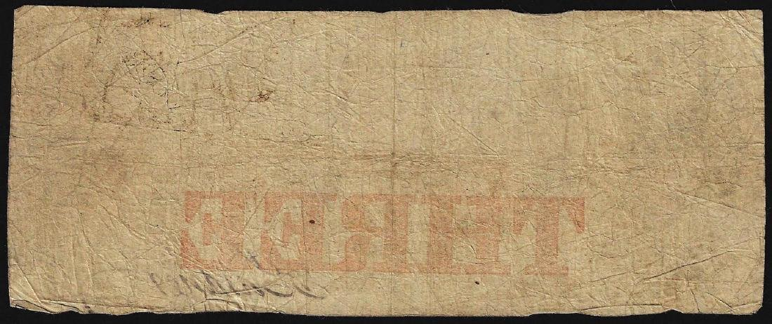 1850 $3 The Cochituate Bank Obsolete Note - 2