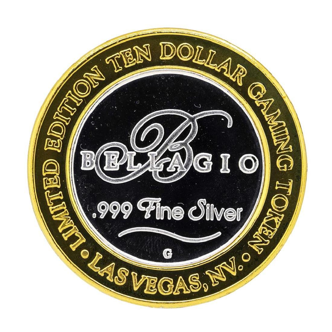 .999 Silver Bellagio Las Vegas, Nevada $10 Casino - 2