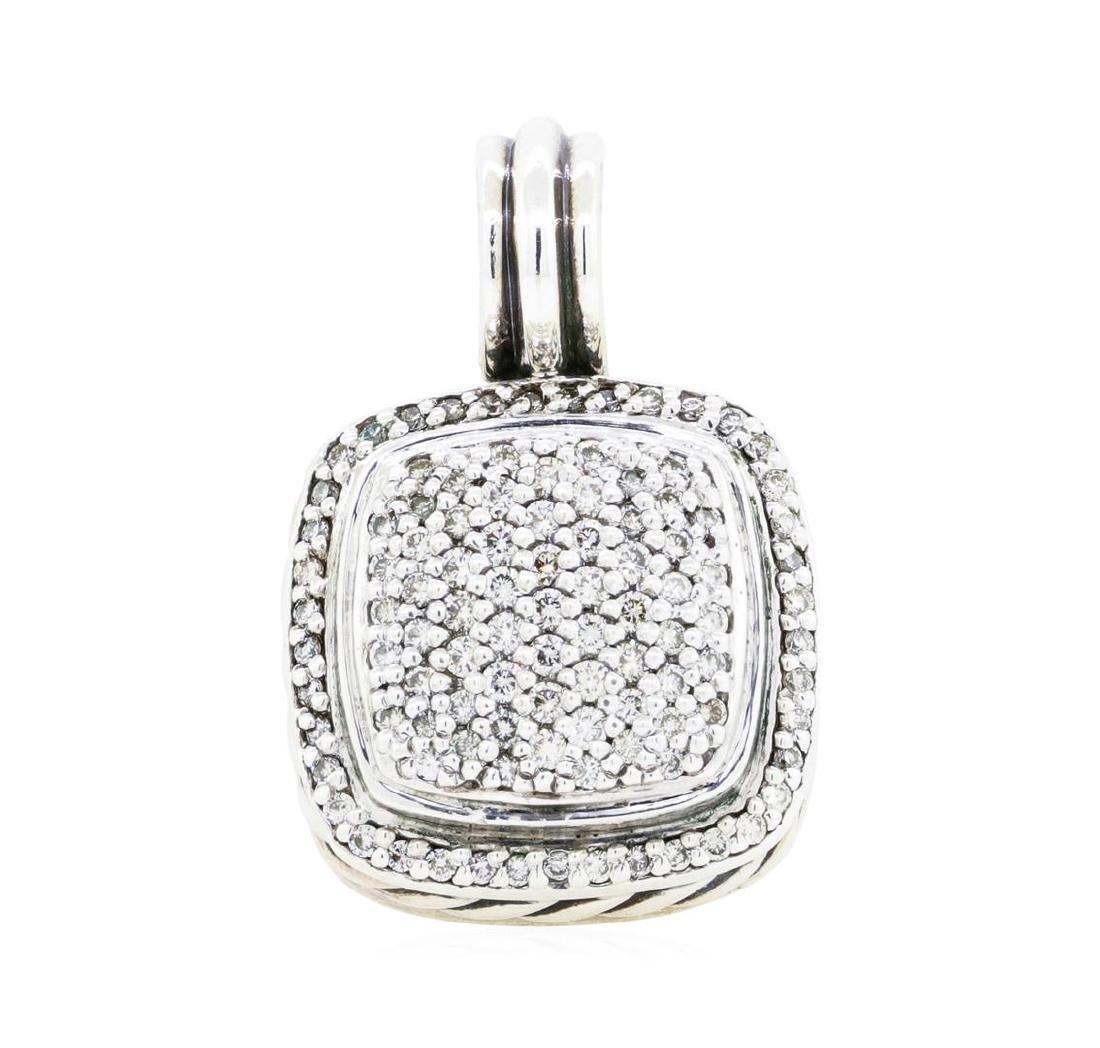 David Yurman Sterling Silver 1.00 ctw Diamond Pendant