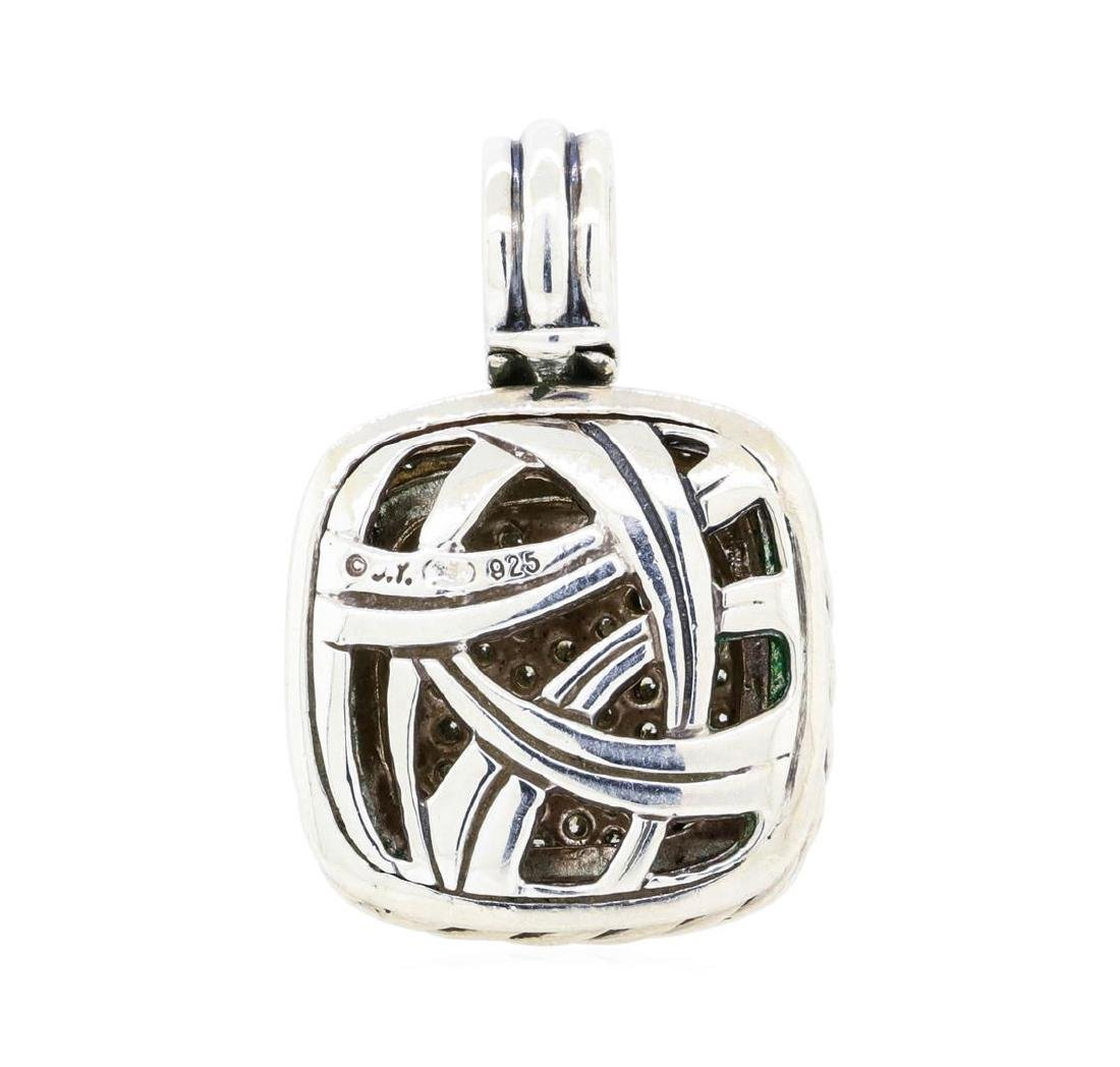 David Yurman Sterling Silver 1.00 ctw Diamond Pendant - 2