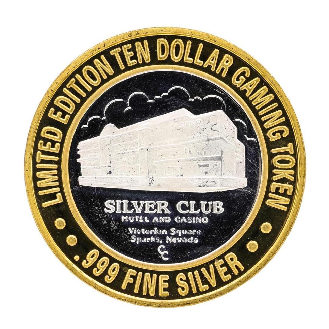 .999 Silver Club Sparks, Nevada $10 Casino Limited