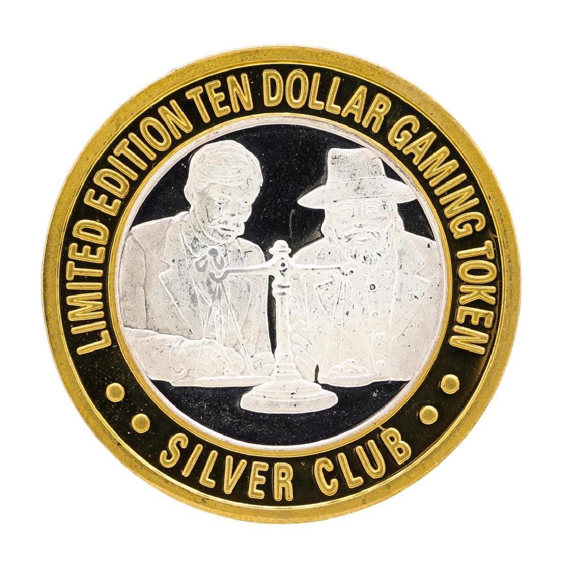 .999 Silver Club Sparks, Nevada $10 Casino Limited - 2
