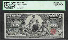 1896 $2 Educational Silver Certificate Note Fr.248 PCGS