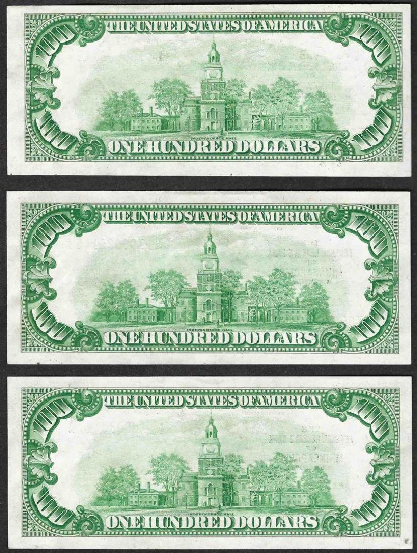Lot of (3) 1929 $100 Federal Reserve Bank of - 2