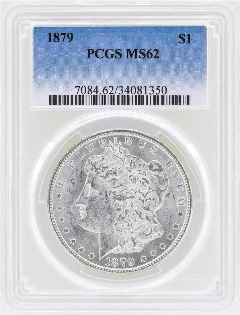 1879 $1 Morgan Silver Dollar Coin PCGS MS62