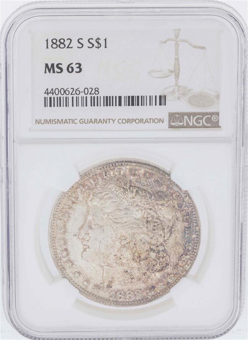1882-S $1 Morgan Silver Dollar Coin NGC MS63
