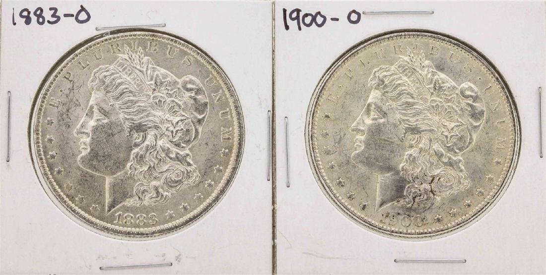 Lot of 1883-O & 1900-O $1 Morgan Silver Dollar Coins