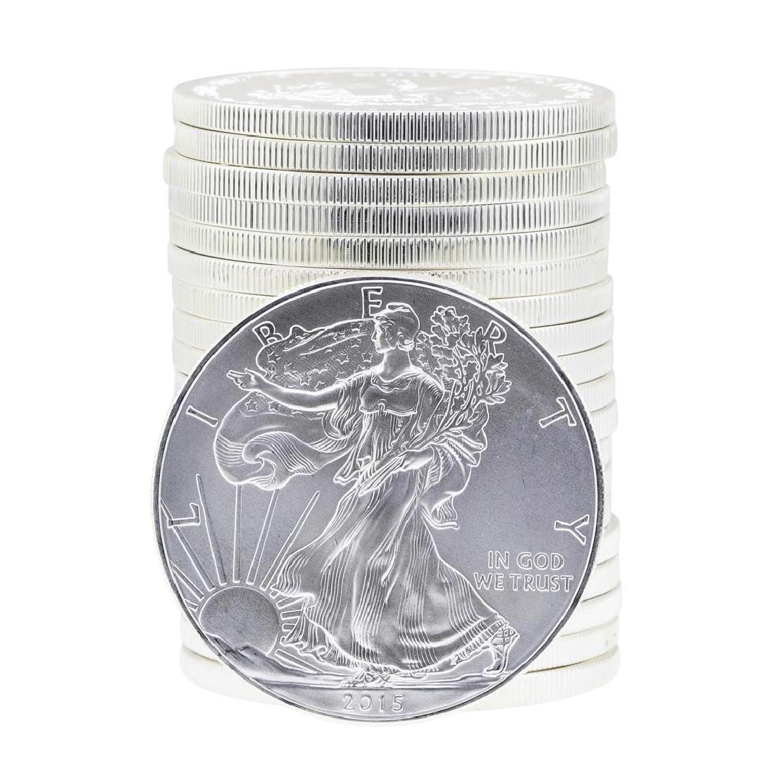 Roll of (20) 2015 $1 American Silver Eagle Brilliant