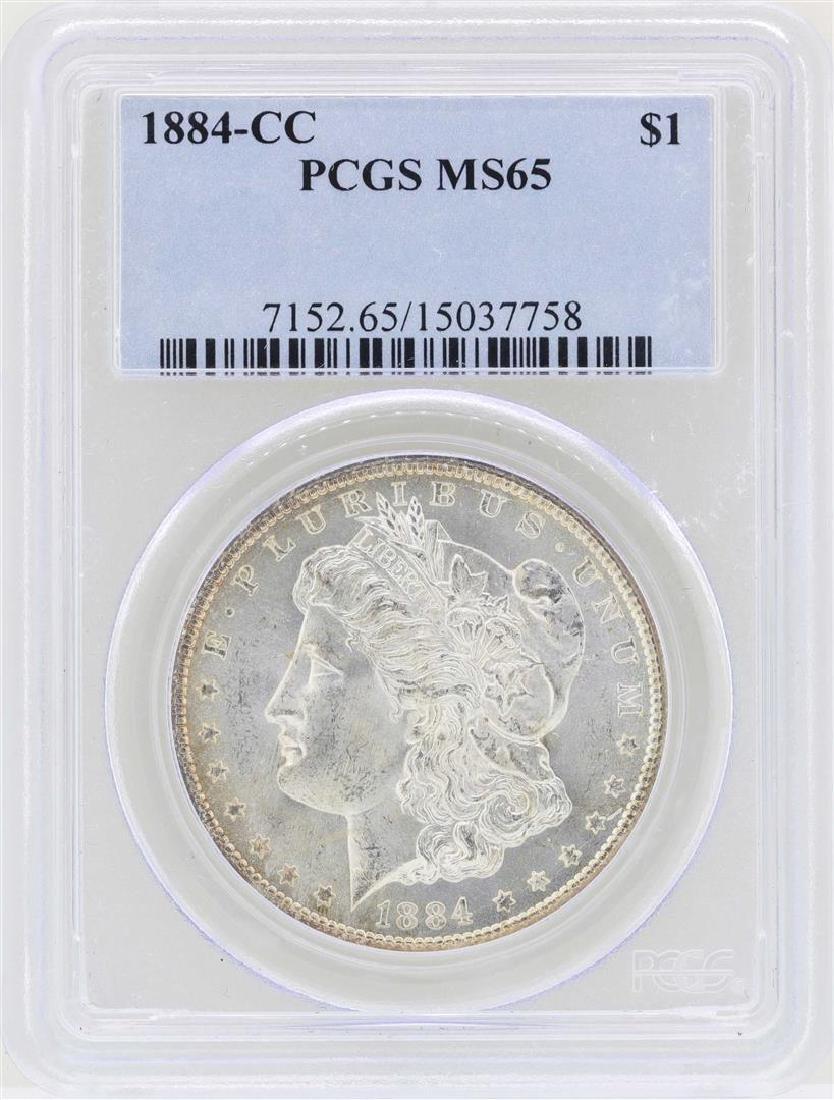 1884-CC $1 Morgan Silver Dollar Coin PCGS MS65