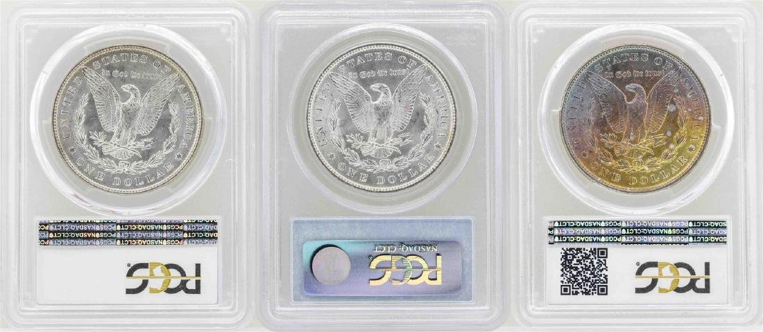 Lot of (3) 1887 $1 Morgan Silver Dollar Coins PCGS MS64 - 2