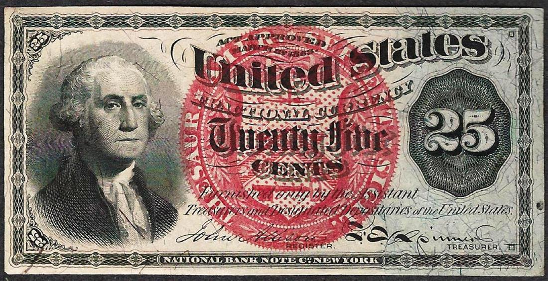 March 3, 1863 Twenty Five Cents Fourth Issue Fractional