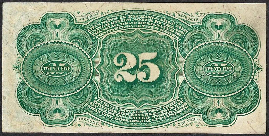 March 3, 1863 Twenty Five Cents Fourth Issue Fractional - 2