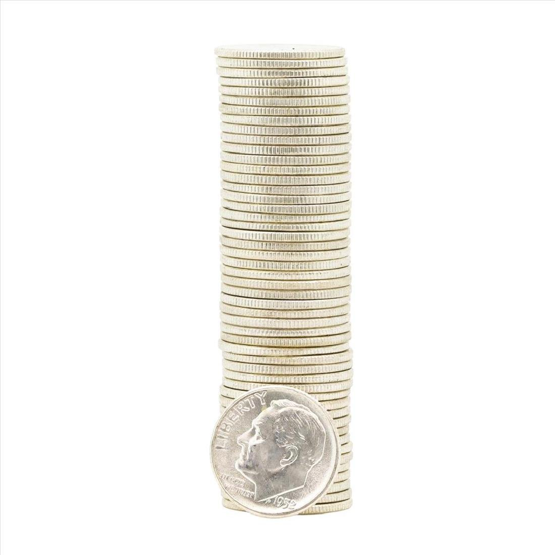 Roll of (50) 1952 Brilliant Uncirculated Roosevelt
