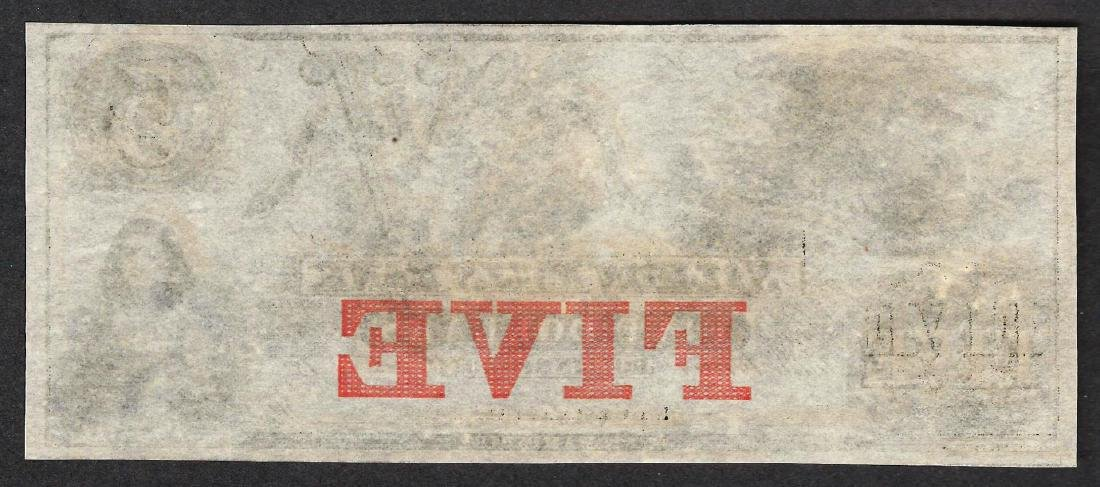 1800's $5 The Salmon Falls Bank Obsolete Note - 2