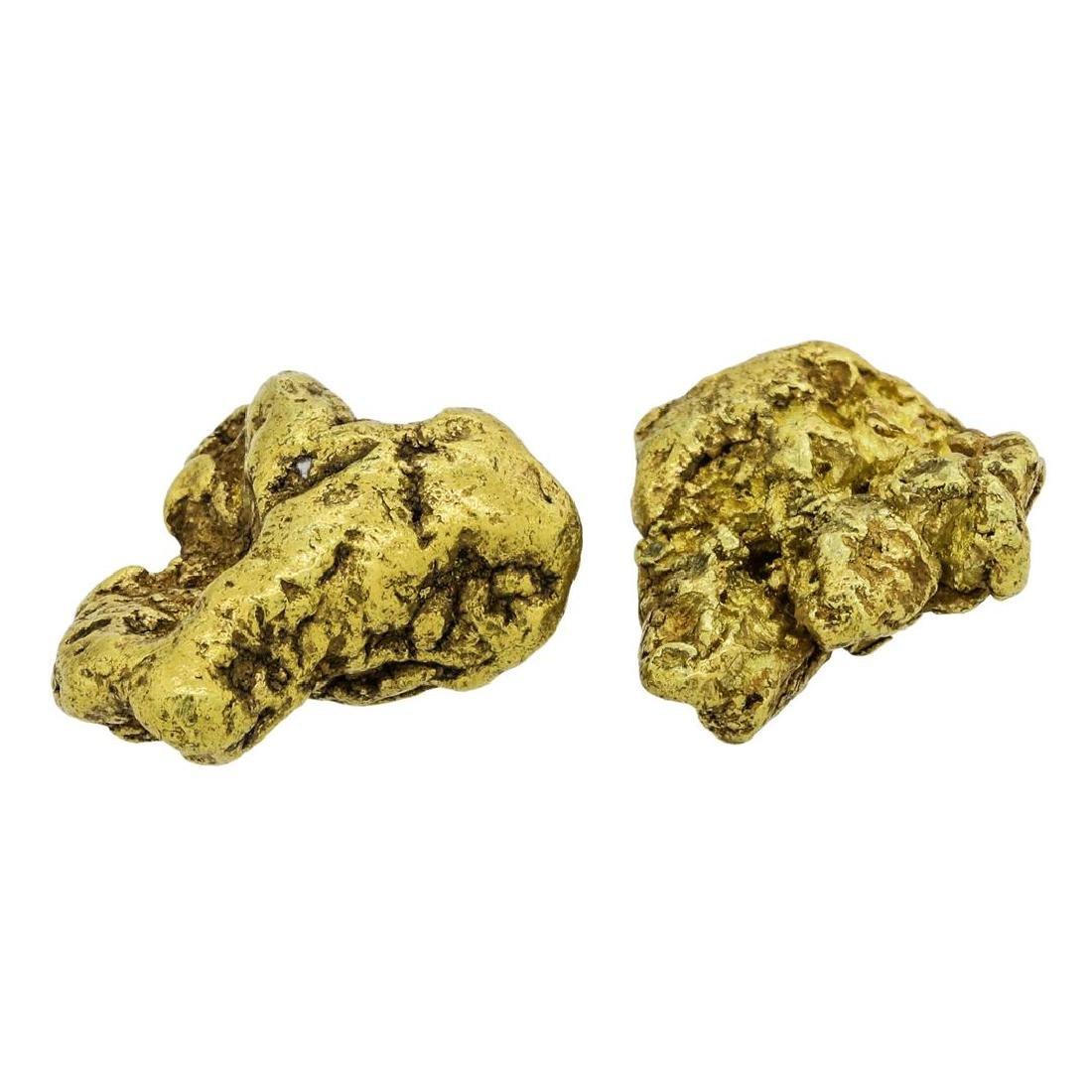 Lot of (2) Alaskan Gold Nuggets 10.45 Grams