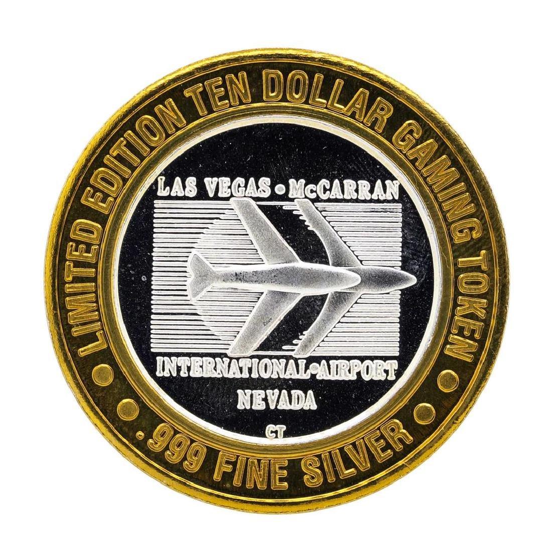 .999 Silver McCarran International Airport $10 Casino - 2