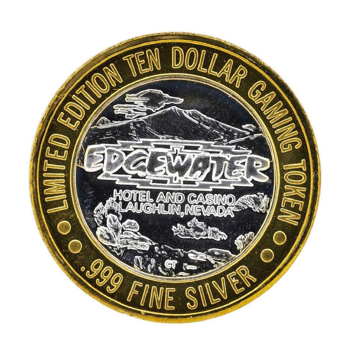 .999 Silver Edgewater Hotel & Casino $10 Casino Limited - 2
