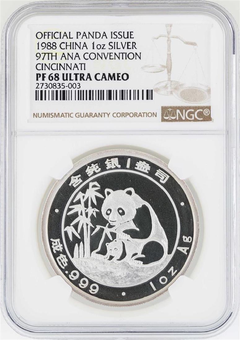 1988 China Panda 97th ANA Convention Cincinnati Silver