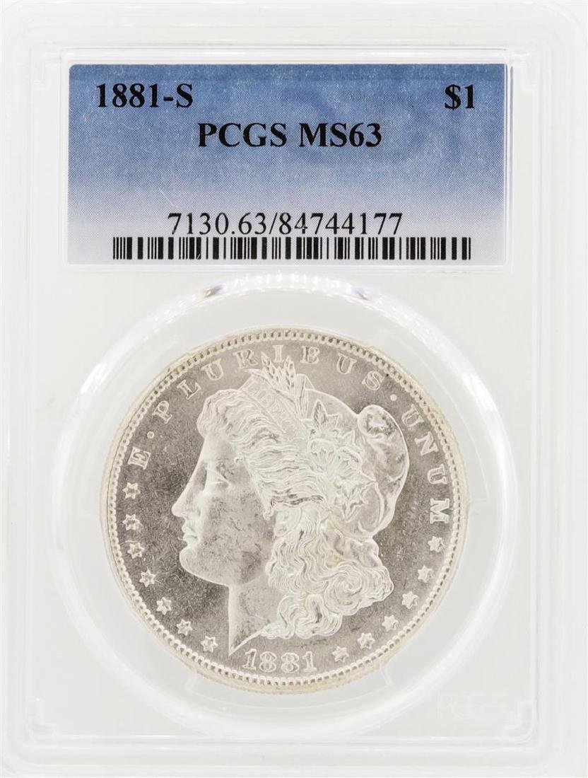 Lot of (20) 1881-S $1 Morgan Silver Dollar Coins PCGS - 2