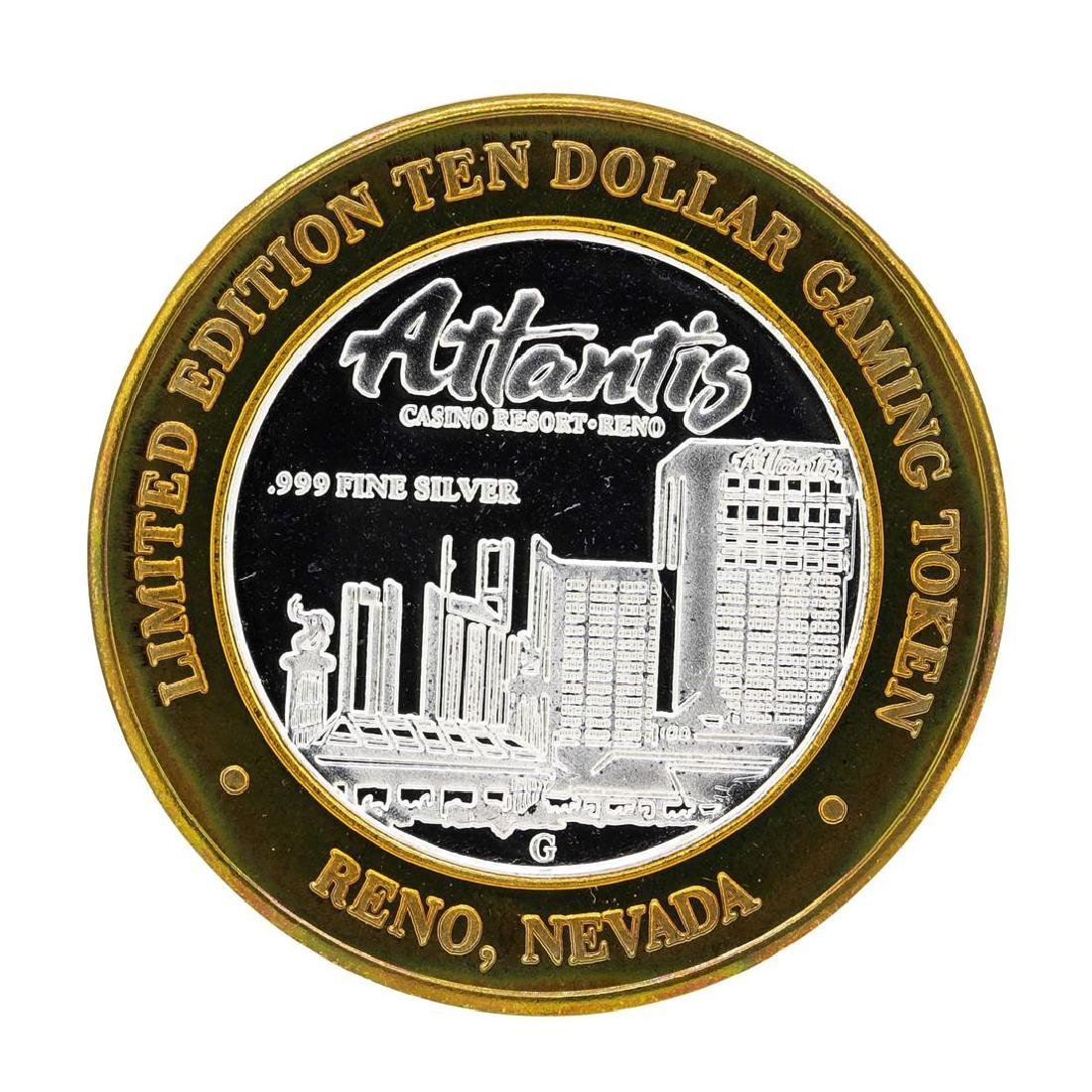 .999 Silver Atlantis Casino Resort Reno, NV $10 Casino - 2