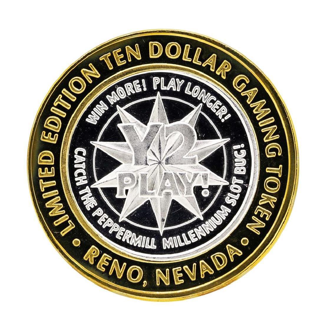 .999 Silver Peppermill Hotel Casino Reno $10 Casino