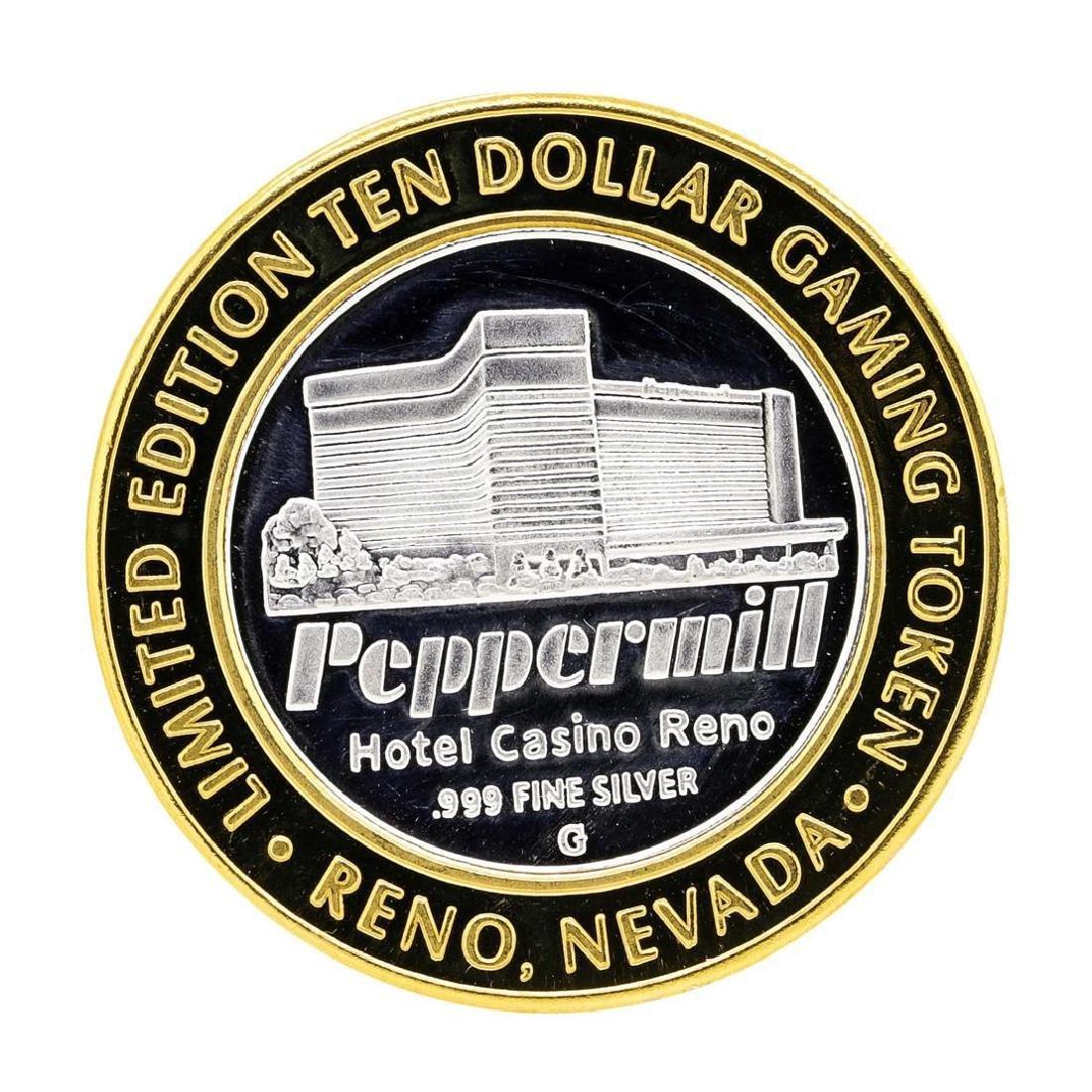 .999 Silver Peppermill Hotel Casino Reno $10 Casino - 2