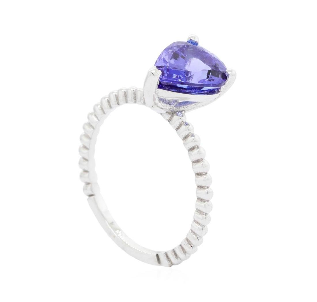 14KT White Gold 2.40 ctw Tanzanite Ring - 3