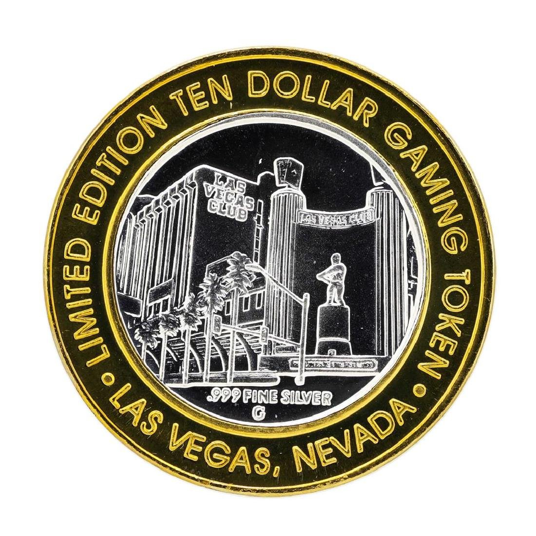 .999 Silver Las Vegas Club $10 Limited Edition Casino
