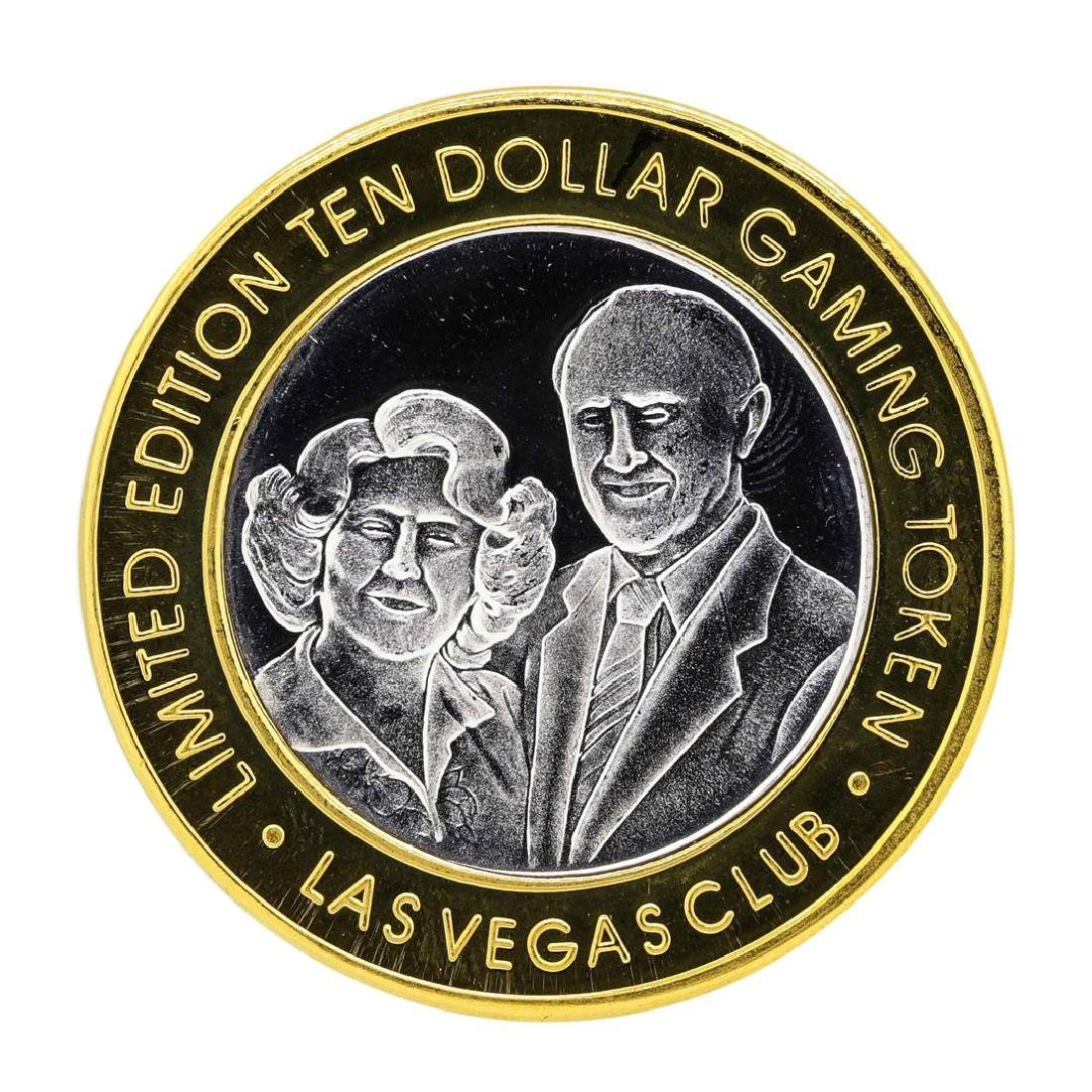 .999 Silver Las Vegas Club $10 Limited Edition Casino - 2