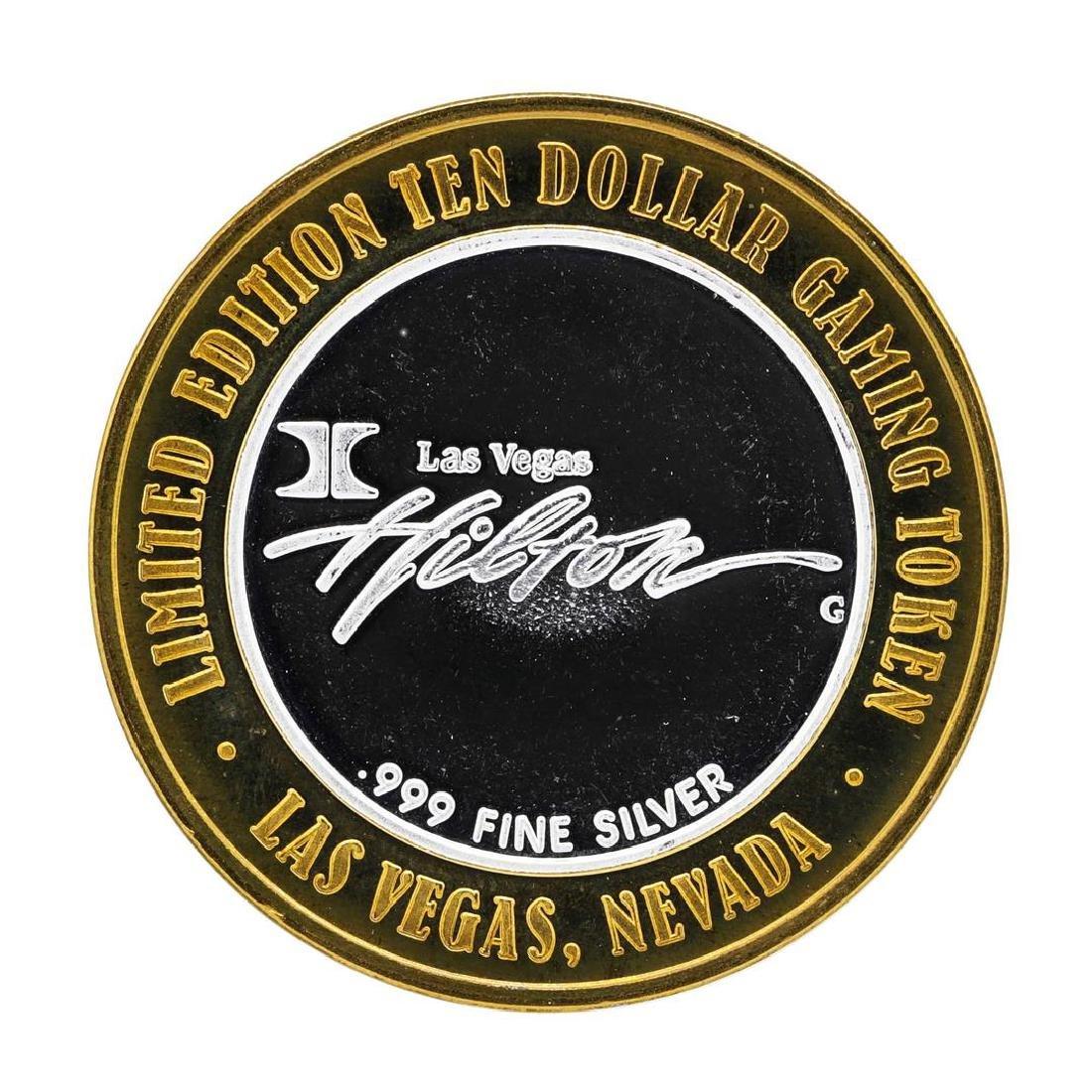 .999 Silver Hilton Las Vegas, Nevada $10 Casino Limited - 2
